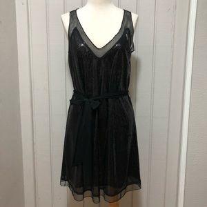 Sequin Shift Black Dress